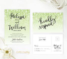 Green wedding invites # 116.2