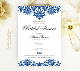 Damask bridal shower invitations # 0.11