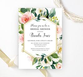 Flower bridal shower invitations - 2