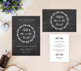 Chalkboard wedding invitations # 67.3