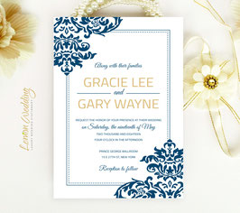 Navy and gold wedding invitations # 42.1