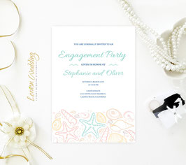 Beach Engagement Invitation