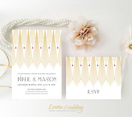 Gatsby Wedding Invitations # 15.2