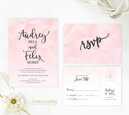 Pink wedding invitation # 101.2