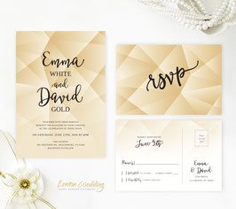 Gold and black invitations # 106.2