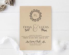 Kraft wedding invitations # 84.1
