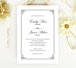 Traditional wedding invitations # 88.1