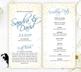 Elegant wedding ceremony programs # 0.15