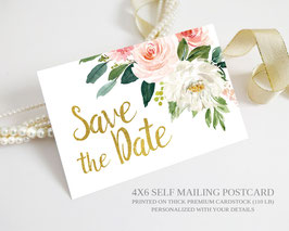 Nature save the date postcards