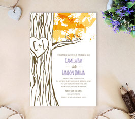 Tree wedding invitation # 91.1