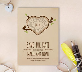 Rustic wedding save the dates # 0.82