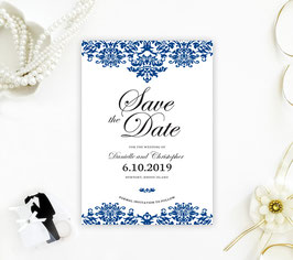 Damask  save the date cards # 0.11