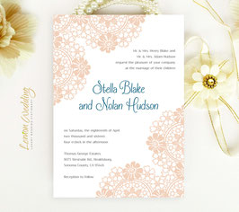 Blush wedding invitations # 73.1