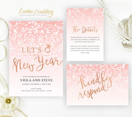 New Year's Eve Wedding Invitations  # 122.3
