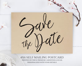 Elegant save the date postcards