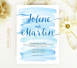 Watercolor wedding invitations # 72.1