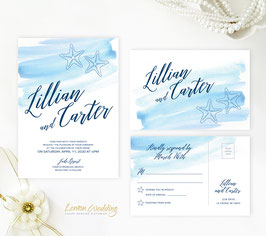 Beach wedding invitations # 74.2