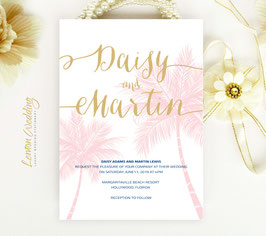 Tropical wedding invitations # 43.1