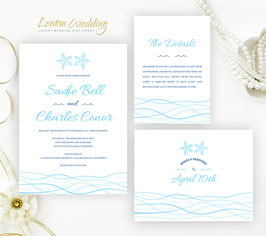 Beach wedding invitations # 59.3