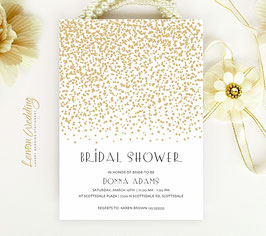 Gold Stars bridal shower cards # 0.23