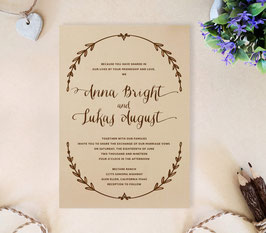 Wreath wedding invitations # 63.1