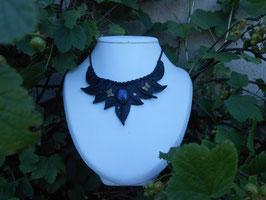 Collier elfique en cuir noir