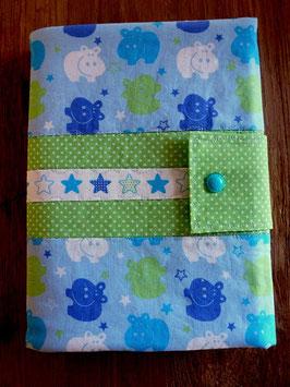 Windel/Pamperstasche Nilpferd blau