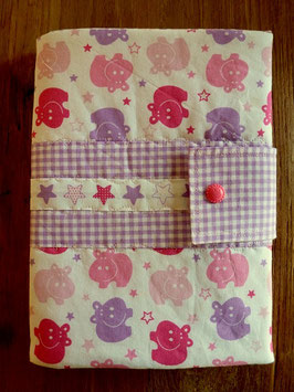 Windel/Pamperstasche Nilpferd rosa