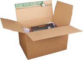 Premium-Karton, selbstklebend, variable Füllhöhe 390x290x160-250mm DIN B4+