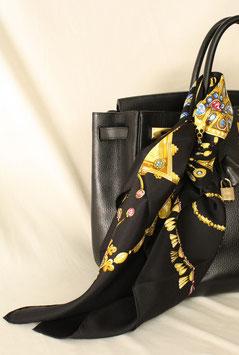 Hermès Carre schwarz-gold  90x90cm -  NEU!