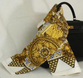 Hermès Carre - weiß-gold - 90x90cm - NEU!