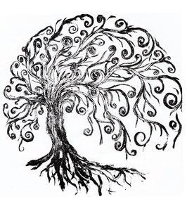 Wohlfühlpulli mit 3/4 -Ärmel Lebensbaum