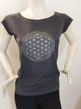 Bio Bambus T-Shirt -Blume des Lebens