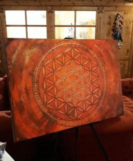 Lebnsblume Rot 100x80cm