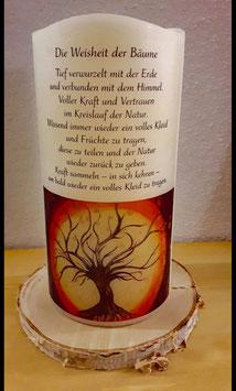 Led Kerze Baum des Lebens