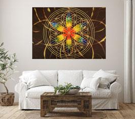 Blume des Lebens Chakenfarben-Braun