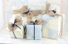 Geschenkverpackung Seekarte