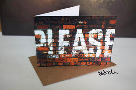 PLEASE Blank Inside Greeting Card