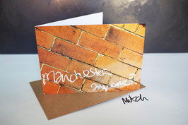 Manchester Anyone Blank Inside Greeting Card