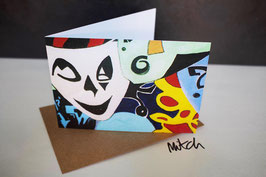 Masks Blank Inside Greeting Card