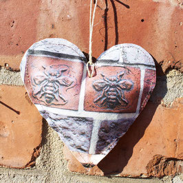 Two Bee Hanging Heart Decoration
