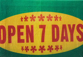 Open 7 Days (Colour) Canvas