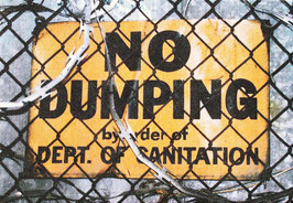 No Dumping Canvas Print
