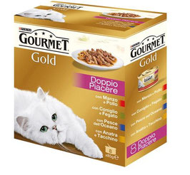 PURINA GOURMET Gold Gatto Dadini in salsa lattina 8x85g