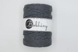 Charcoal Bobbiny macramé garen 5 mm