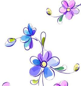 Brautkleidbox - Blumenmeer lila