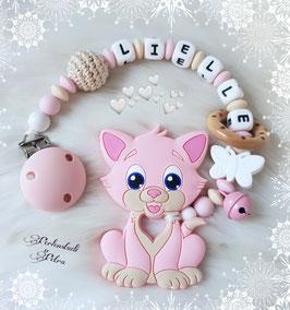 "Beißkette Silikon ""kleines Kätzchen"""
