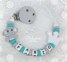 """SILIKON Schnullerkette """"kleiner Elefant """" M2"""