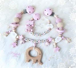"Kinderwagenkette Set ""Little Baby Dream"" Elefant"