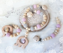 "Kinderwagenkette Set "" My little Star"" ohne Namen"